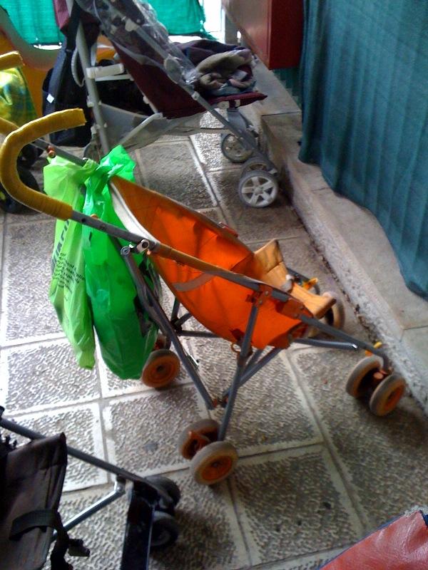 Chasing the Orange Stroller